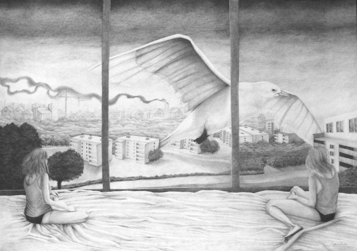 Molo's Dream graphite drawing