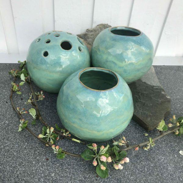 Gröna vaser 20 cm