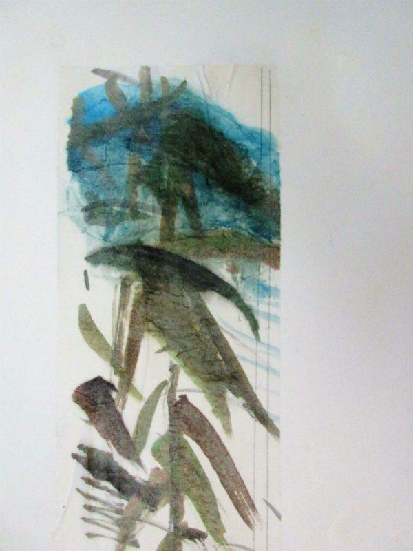 Blått Berg, 2021 Akvarell 56 x 76 cm Akvarell på Japanskt konstnärspapper som jag limmat på Arches 300 gr. papper.
