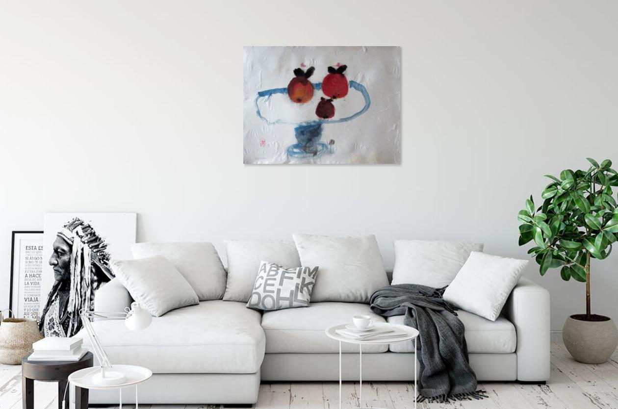 Tre frukter, 2021 Blandteknik 62 x 47 cm