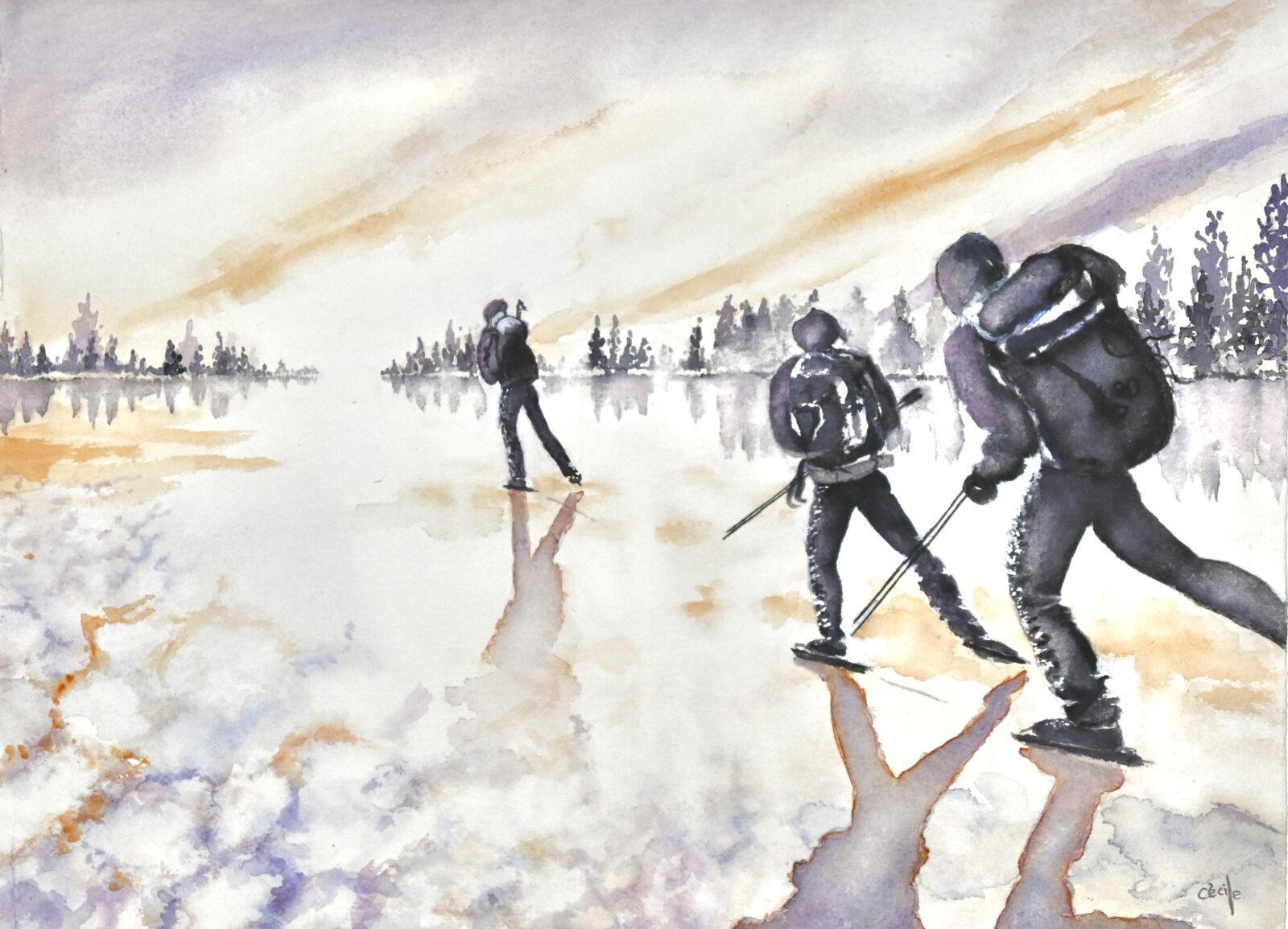 På hal Is