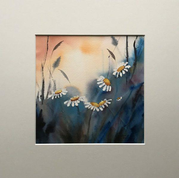 blommor i sommarvärmen